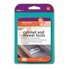 KidCo 3 pkAdhesive Mount Cabinet & Drawer Lock
