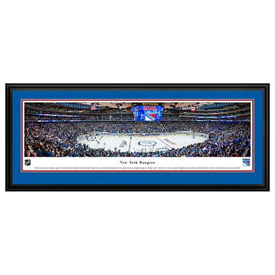 New York Rangers Hockey Arena Center Ice Framed Wall Art