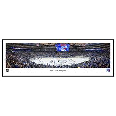 New York Rangers Hockey Arena Center Ice Framed Wall Art