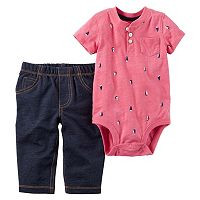 Baby Boy Carter's Sailboat Henley Bodysuit & Jeggings Set
