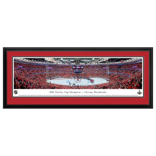 Chicago Blackhawks Hockey Arena 2015 Stanley Cup Champions Framed Wall Art