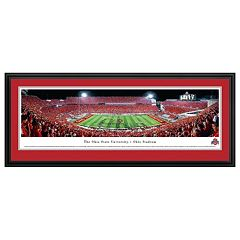 Ohio State Buckeyes Football Stadium Script Framed Wall Art