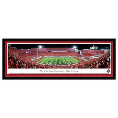 Ohio State Buckeyes Football Stadium Script Framed Wall Art