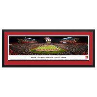Rutgers Scarlet Knights Football Stadium Framed Wall Art