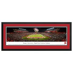 Rutgers Scarlet Knights Football Stadium Framed Wall Art