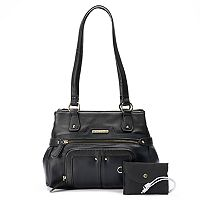 Stone & Co. Nadine Phone Charging Triple Entry Leather Satchel