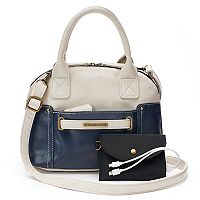 Stone & Co. Megan Phone Charging Small Dome Satchel