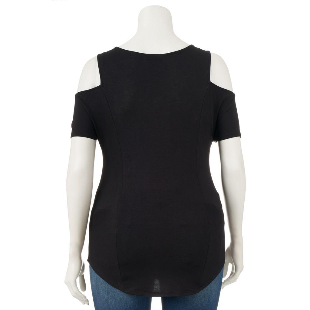 Women's Apt. 9® Solid Cold-Shoulder Tee