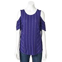 Women's Apt. 9® Solid Cold-Shoulder Tee