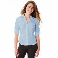 Juniors' IZ Byer California Button Down Top