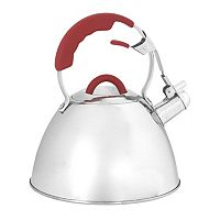 Oneida 3-qt. Red Stainless Steel Whistling Tea Kettle