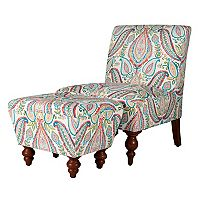 HomePop Paisley Accent Chair & Ottoman 2 pc Set