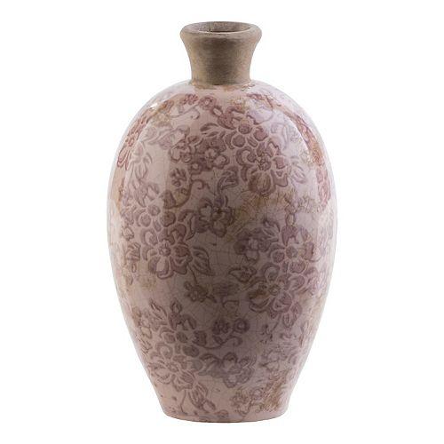 """Decor 140 Jucac 12"""" x 7"""" Ceramic Floral Vase"""