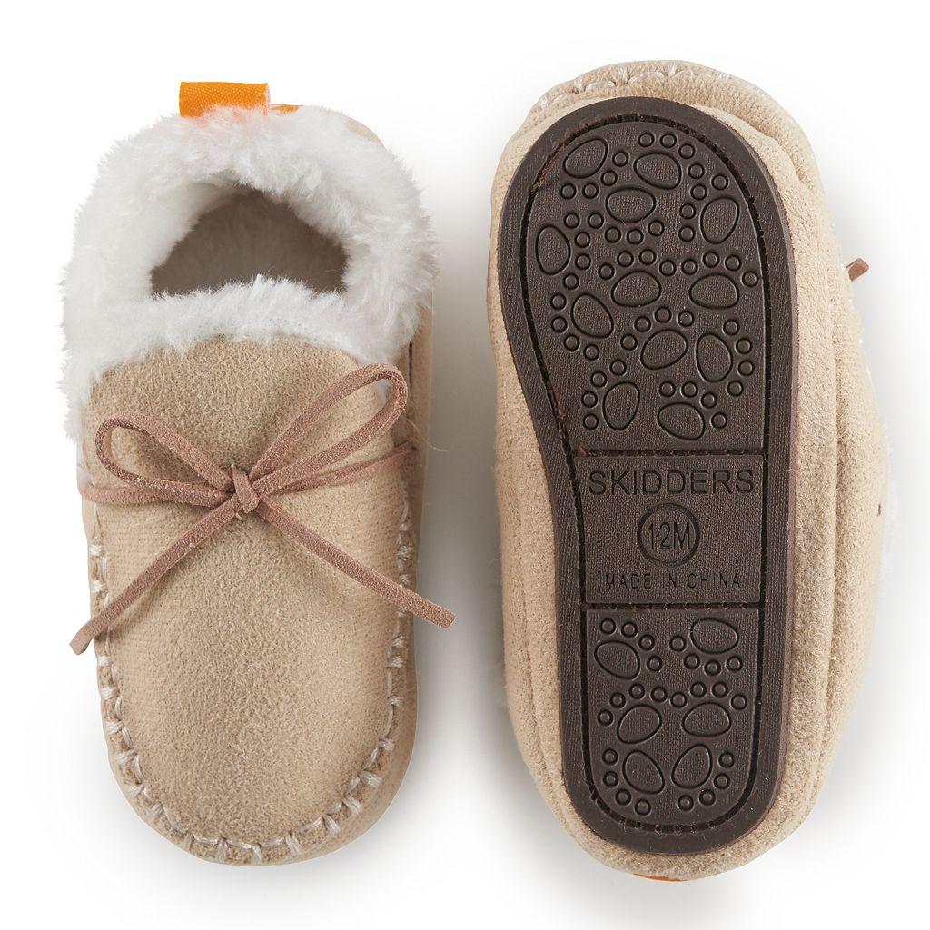 Baby Girl Skidders Moccasin Slippers