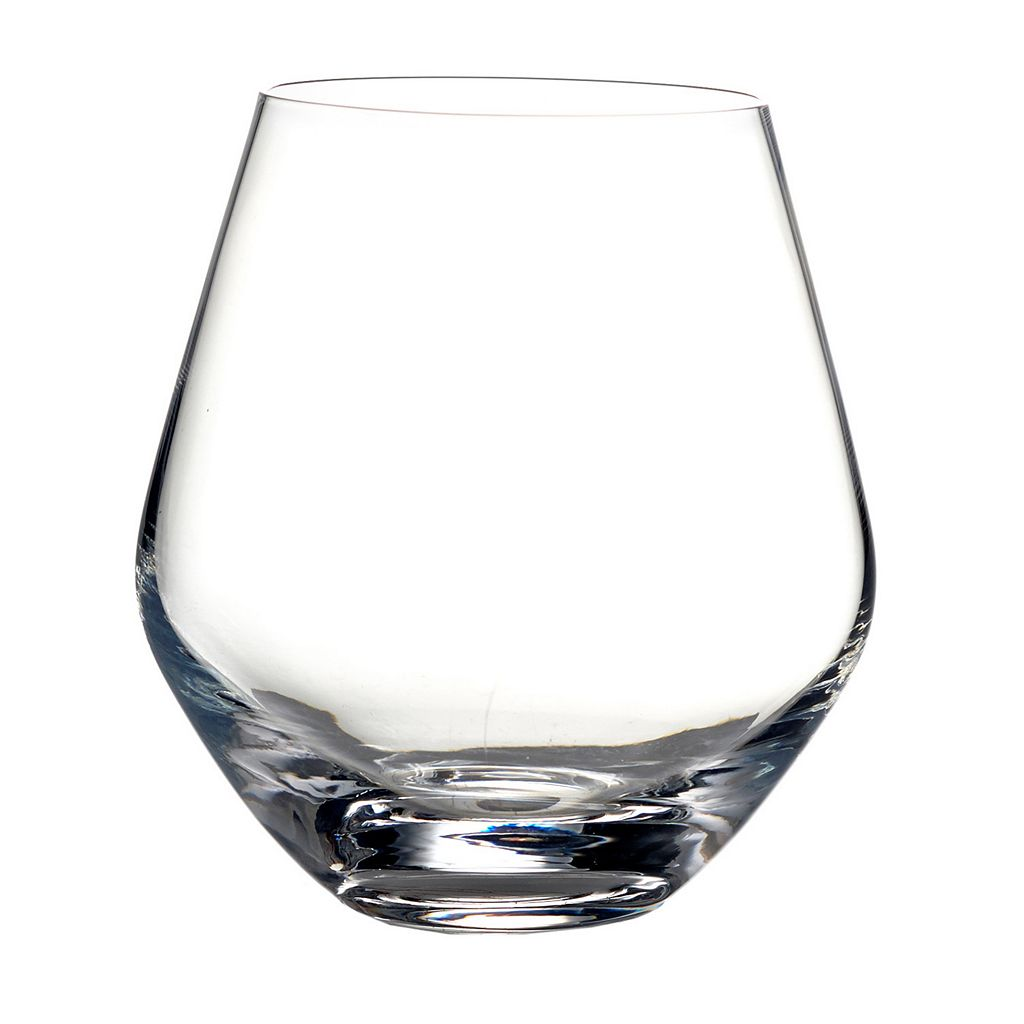 Fitz & Floyd Michel 4-pc.Round Stemless Wine Glass Set