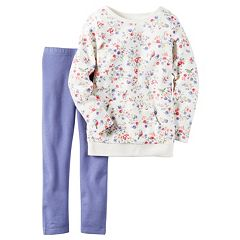 Girls 4-8 Carter's Floral Sweatshirt & Solid Leggings Set