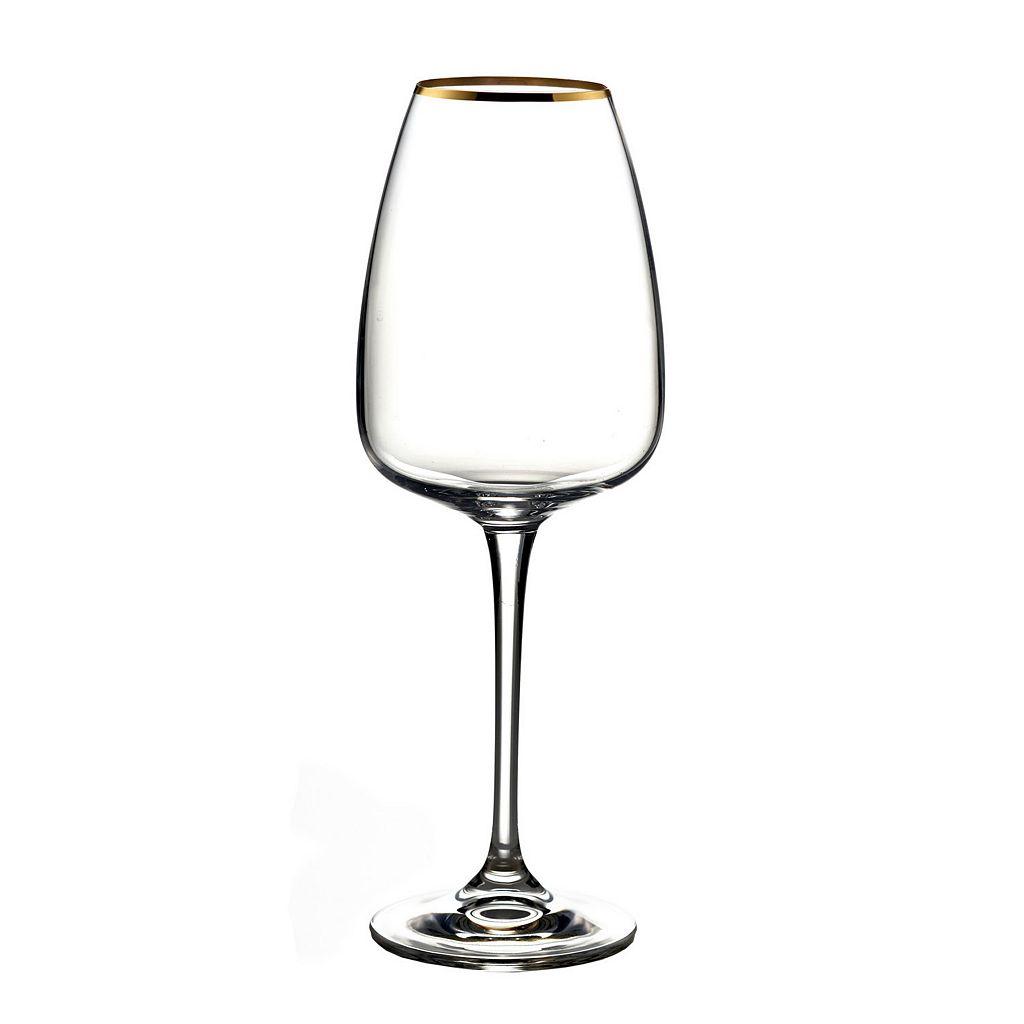 Fitz & Floyd Elise 4-pc. Gold White Wine Glass Set