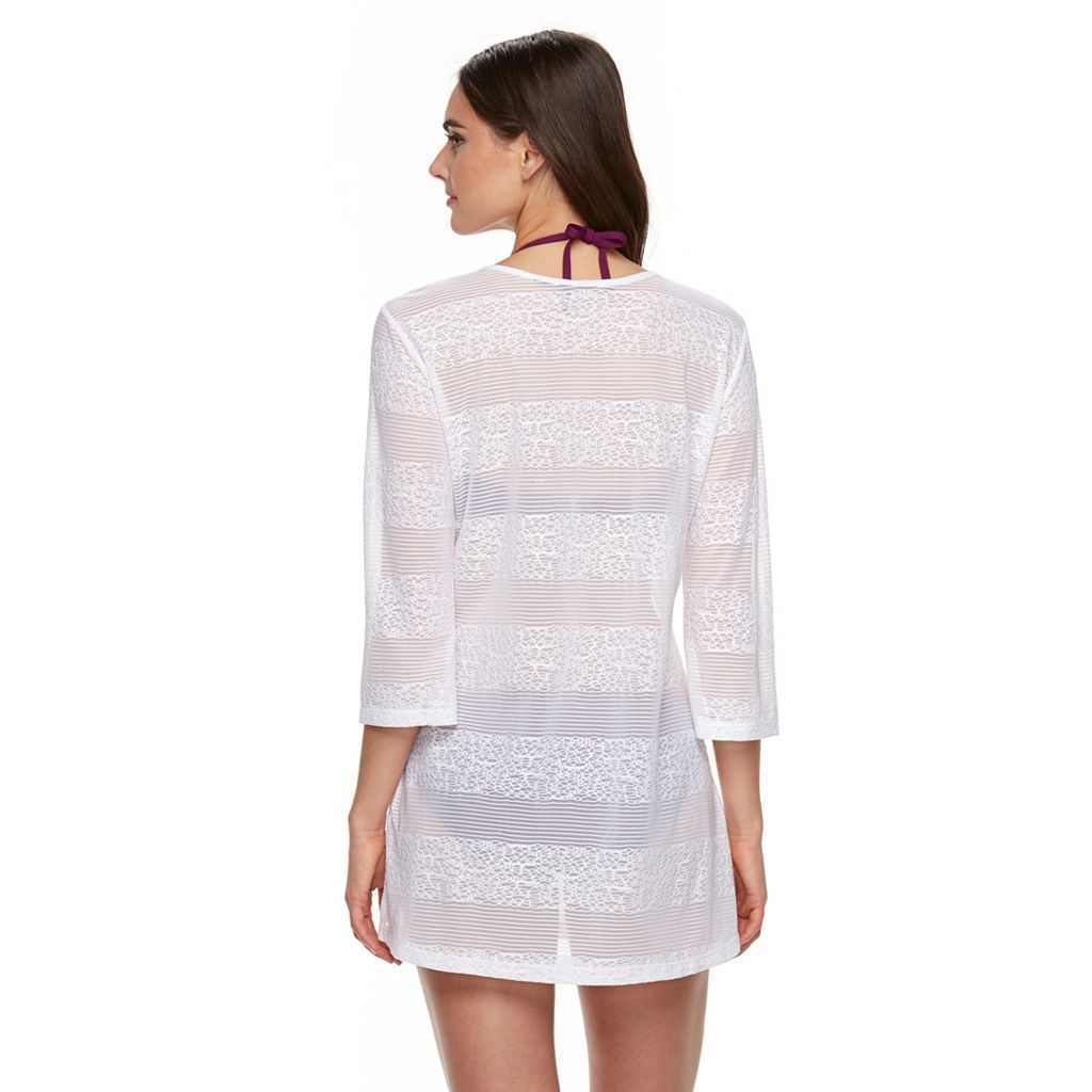 Women's Apt. 9® Striped Lace-Up Cover-Up