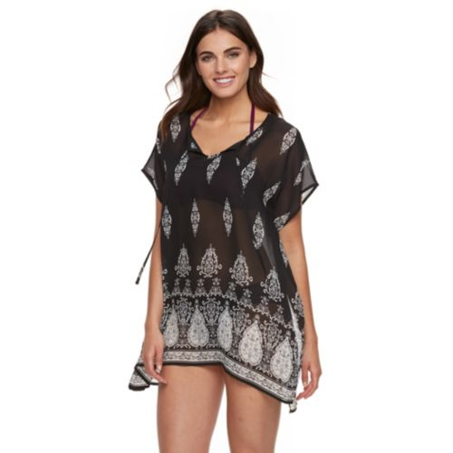 Women's Apt. 9® Scroll Poncho Cover-Up