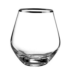 Fitz & Floyd Michel 4 pc Stemless Wine Glass Set