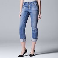 Women's Simply Vera Vera Wang Button-Fly Capri Jeans