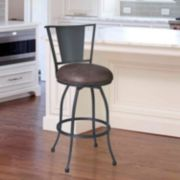 Armen Living Dynasty Swivel Counter Stool
