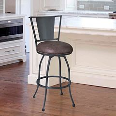 Armen Living Dynasty Swivel Bar Stool