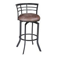 Armen Living Viper Swivel Counter Stool