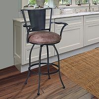 Armen Living Dynasty Armrest Swivel Bar Stool