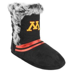Women's Minnesota Golden Gophers Mid-High Faux-Fur Boots