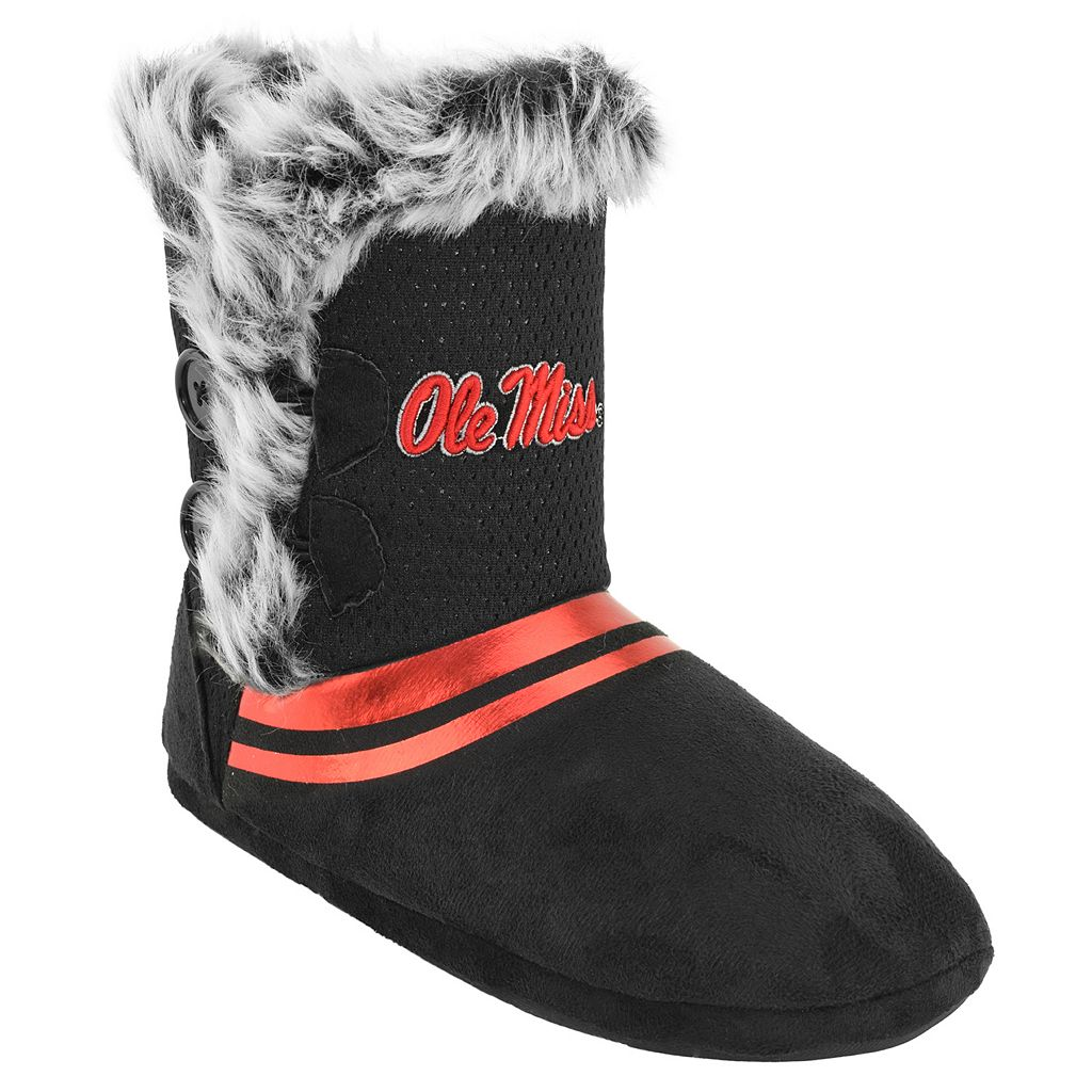 Women's Ole Miss Rebels Mid-High Faux-Fur Boots