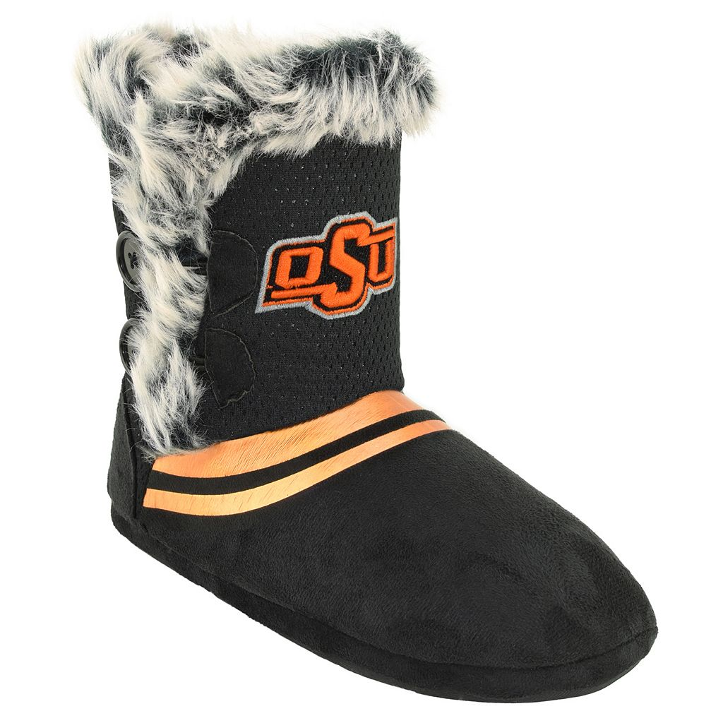 Women's Oklahoma State Cowboys Mid-High Faux-Fur Boots