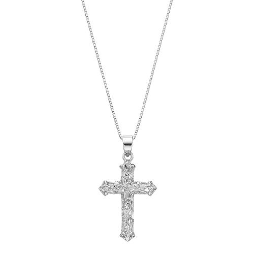 Timeless Sterling Silver Cross Pendant Necklace