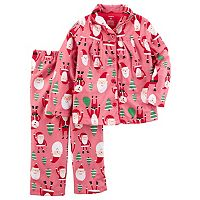 Girls 4-14 Carter's Santa Pajama Set