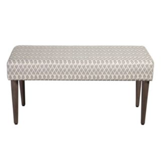 HomePop Gray Bench