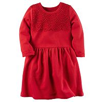 Girls 4-8 Carter's Tiered Knit Lace Long Sleeve Dress