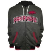 Men's Franchise Club Arkansas Razorbacks Power Play Reversible Hooded Jacket