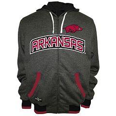 Men's Franchise Club Arkansas Razorbacks Power Play Reversible Hooded Jacket