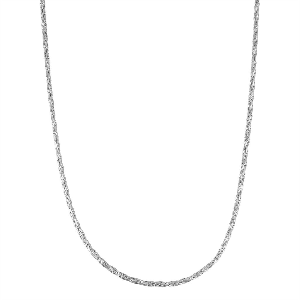 Sterling Silver Foxtail Chain Necklace - 20 in.
