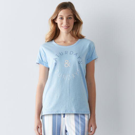 Women's SONOMA Goods for Life™ Pajamas: Weekend Love Tee