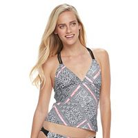 Juniors' Malibu Paisley Macrame-Back Tankini Top