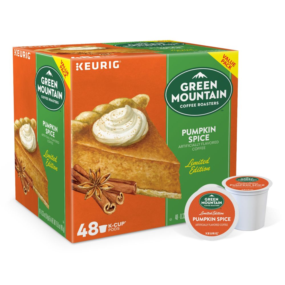 k cup pod green mountain pumpkin spice coffee 48 pk
