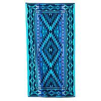 Celebrate Summer Together Blue Tribal Beach Towel