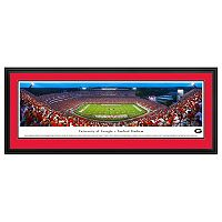 Georgia Bulldogs Football Stadium Twilight Framed Wall Art