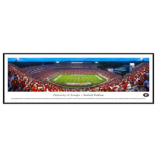 Georgia Bulldogs Football Stadium Twilight Framed Wall Art