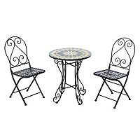 Sunjoy Mosaic Bistro Table 3-piece Set