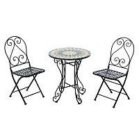 Sunjoy Mosaic Bistro Table 3 pc Set