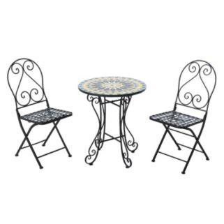 Sunjoy Mosaic Bistro Table 3-piece Set