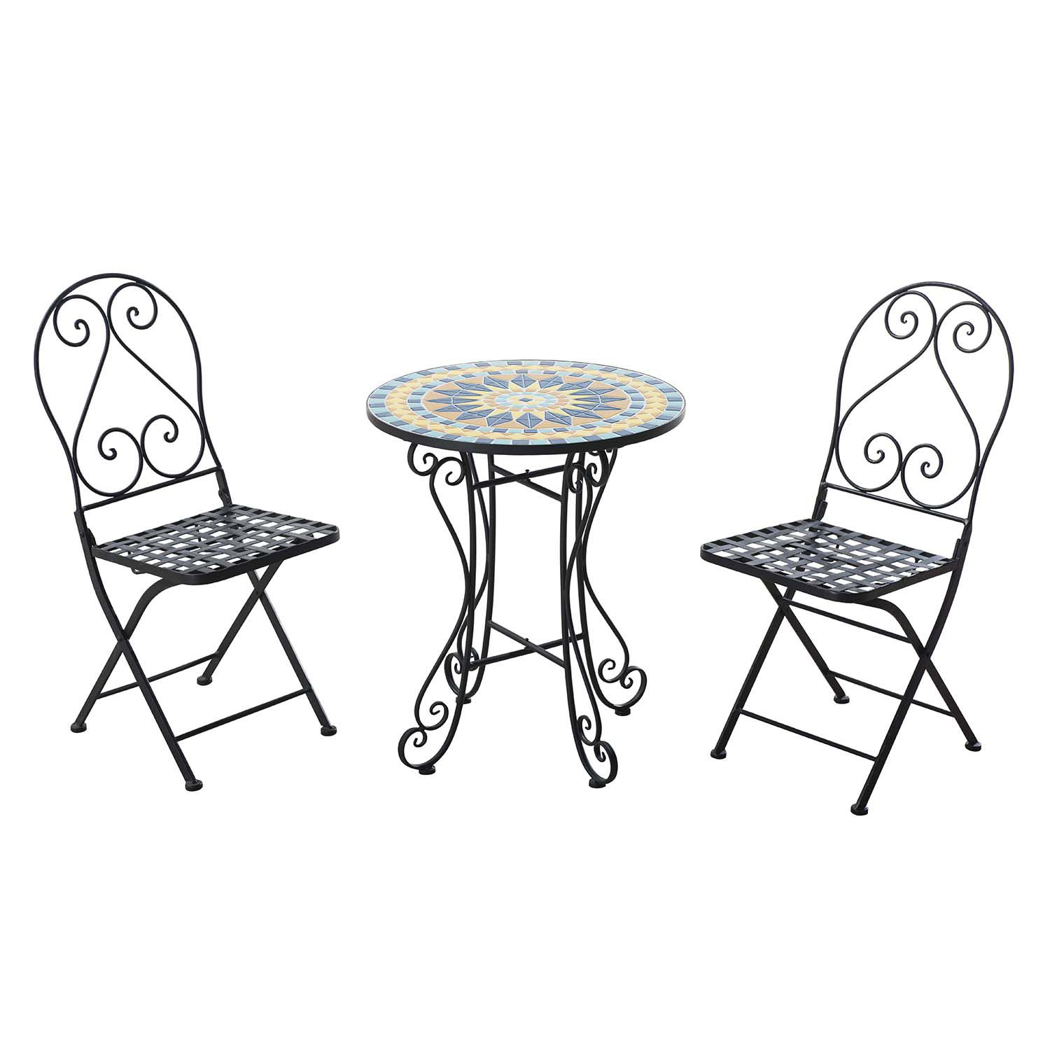 Sunjoy Mosaic Bistro Table 3 Piece Set