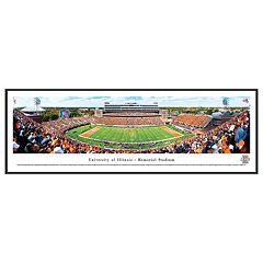 Illinois Fighting Illini Football Stadium Framed Wall Art